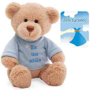 "GUND ""It's A Boy"" Plush Teddy Bear in Spanish 12"" - 015418SP"