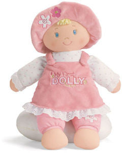 GUND Baby My First Dolly Baby Doll  Blonde - 13""