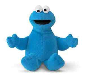 GUND Sesame Street Cookie Monster    Beanbag Toy - 6.5""""
