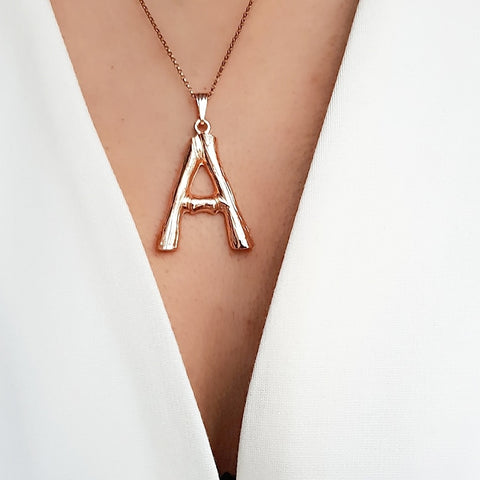 GOLD 'TWIGGY' INITIAL NECKLACE