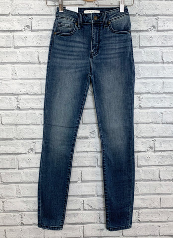 bella super high rise skinny ankle jeans