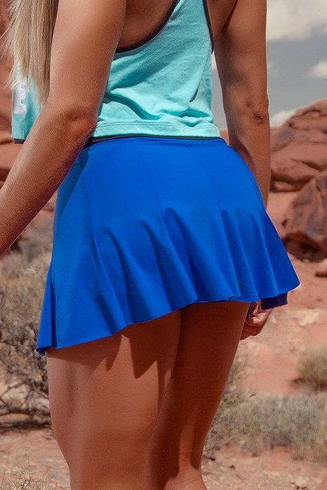 Heavy Blue Skirt - Bad Girl Fitness
