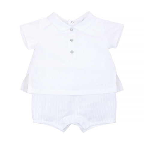 Laranjinha - baby all in one romper, mock shirt and  shorts, V9081