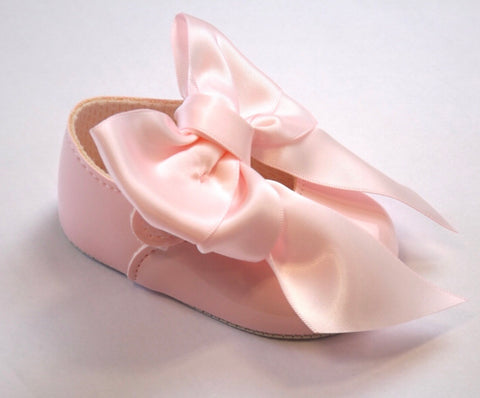Early Days -  Baby pram shoes, pink B040