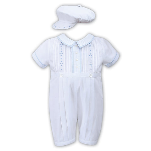 Sarah Louise - White romper with hat, 011442