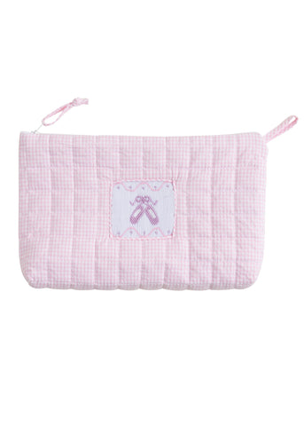 Little English Quilted Cosmetic Bag - Ballet Slippers