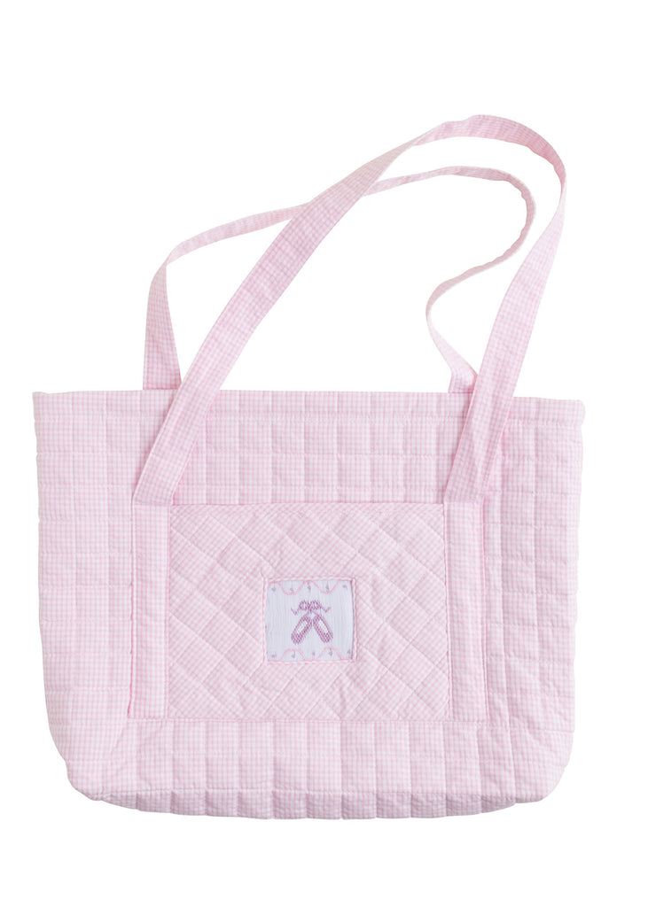 Little English Quilted Tote - Ballet Slippers