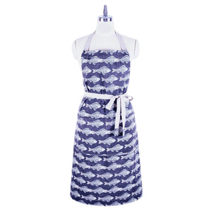 Handmade ChopCookDine fish print full apron - made in Hong Kong