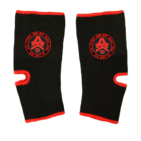 AK-47 MMA Ankle Supports Black & Red