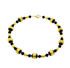 'Dogaressa' Necklace with Gold Round Beads