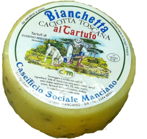 Tuscan Bianchetta - Mixed Caciotta Cheese with Truffle 300g