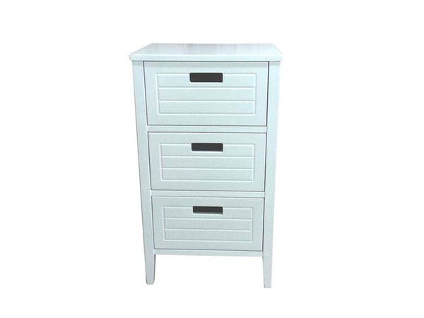 Astrid white chest of 3 drawers