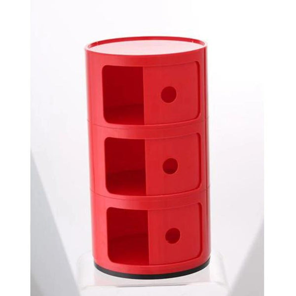 plastic componibili red storage