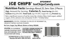 Nutrition Facts & Ingredients Spearmint Ice Chips available at TheProteinStore.com