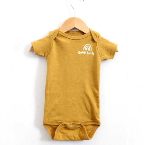 """Good Times"" Onesie - Little Adi + Co."