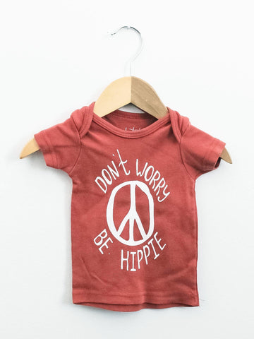 Hippie Lap Tee - Terracotta - Little Adi + Co.
