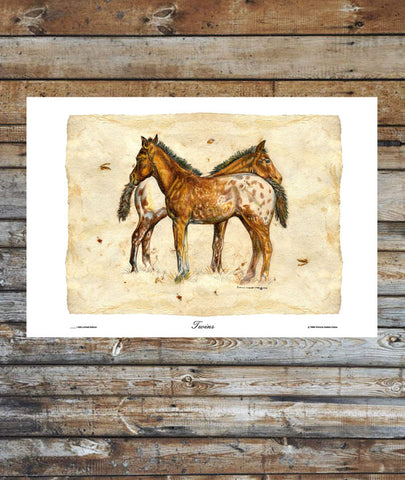 """Twins"" Appaloosa Colts Portrait"