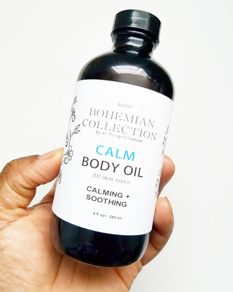 8oz CALM Bath + Body Oil