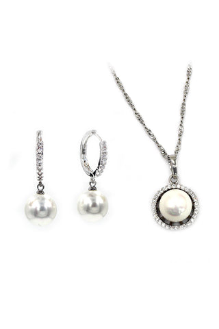trendy circle earring necklace set