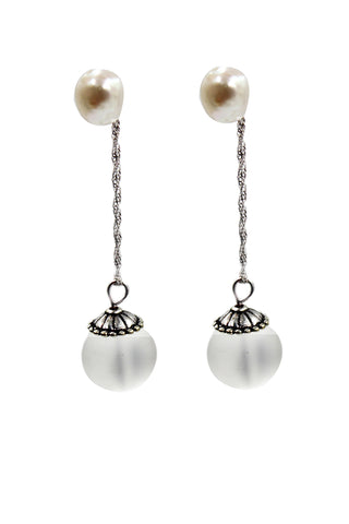 fashion small pearl pendant earrings
