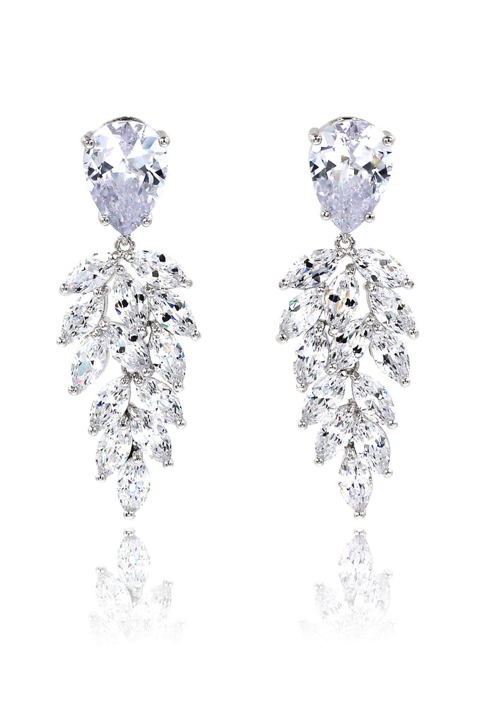 sparkling crystal pendant earrings