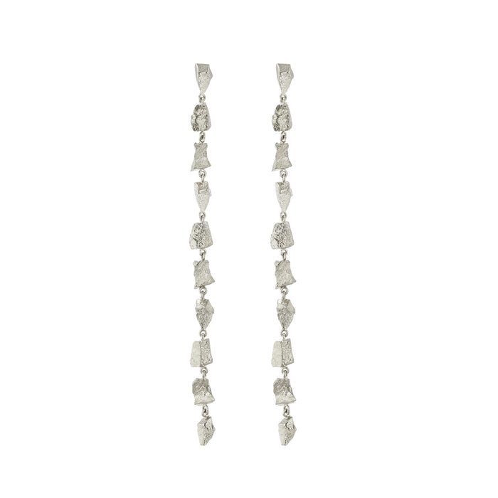 Remnant Chain Earrings Silver Sarah & Sebastian
