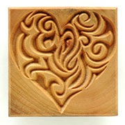 MKM Large Square Stamp 6cm Heart