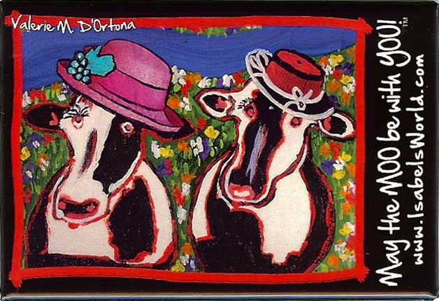 May the Moo be with you magnet - Cow Art and More