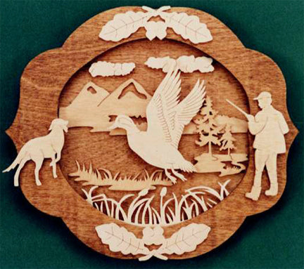 Bird Hunter's Homage Fretwork Pattern