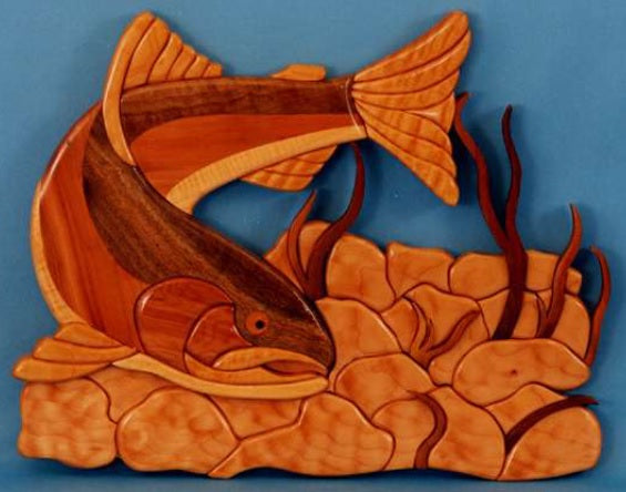 Rainbow Trout Intarsia Pattern - scroll saw patterns and projects