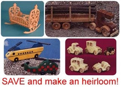 Wooden Toys Value Pack of Patterns -- for Download - scroll saw patterns and projects