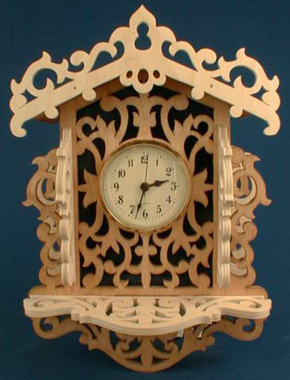 Victorian Wall Clock w/ Shelf Patterns