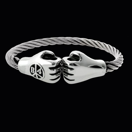 Punching Hands Bracelet- Silver