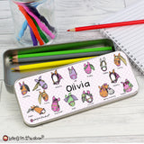 Bang on the Door Pony Pencil Tin with Pencil Crayons