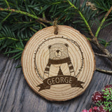 Personalised Engraved Polar Bear Christmas Tree Decoration