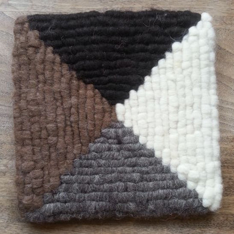 Four-Corners Wool Trivet