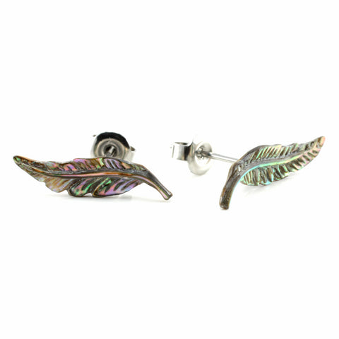 Abalone Feather MAKERPin Studs