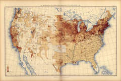 Distribution of the foreign born population of the United States: 1890