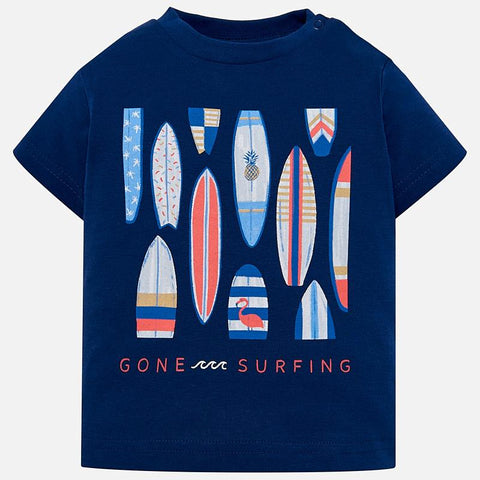 1023 Mayoral Boys Gone Surfing TShirt - Blue