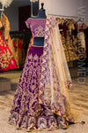 Deep Purple Off The Shoulder Lengha