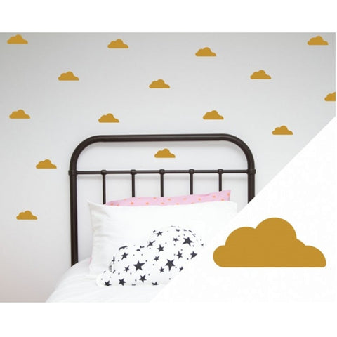 Wall Stickers - Lge Clouds Gold