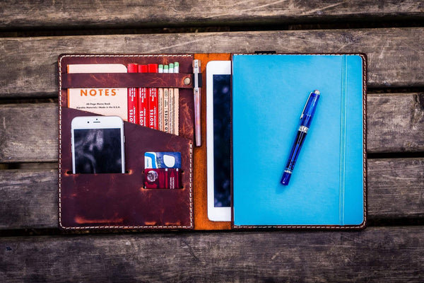 iPad Air/Pro & Extra Large Moleskine Cover - Crazy Horse Orange-Galen Leather