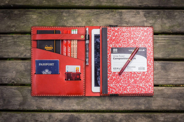 iPad Air/Pro & Extra Large Moleskine Cover - Red-Galen Leather