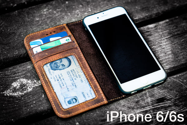 iPhone 6/6s Leather Wallet Case - No.01-Galen Leather