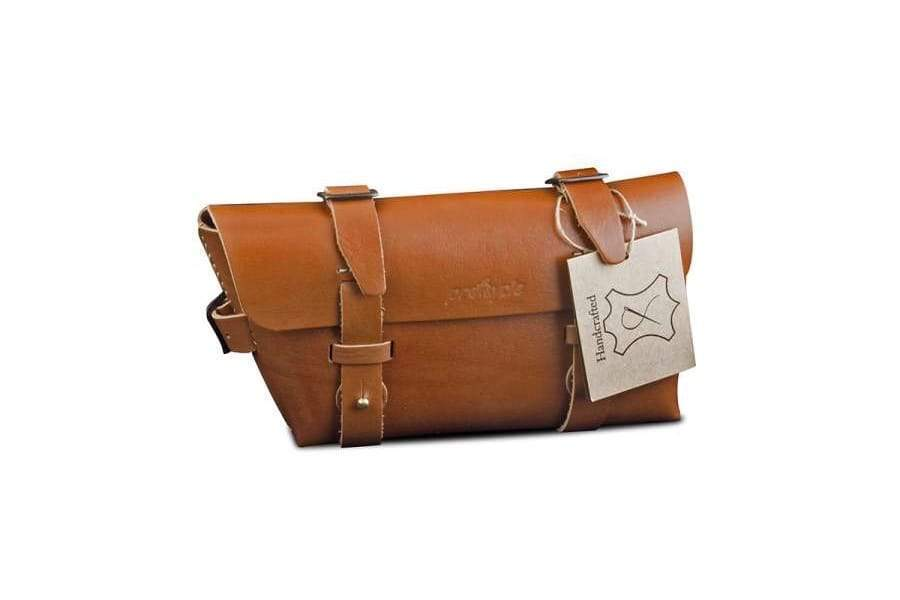 Leather Bicycle CrossBar Bag-Tan-Galen_Leather
