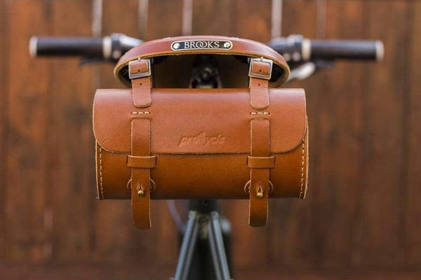 Leather Bicycle Saddle Bag-Tan-Galen_Leather