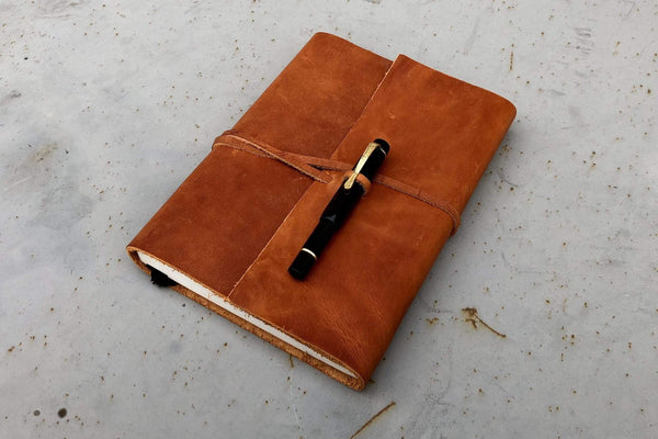 Crazy Horse Tan Leather Journal