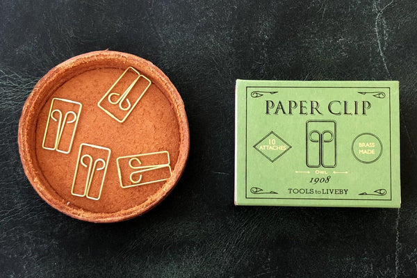 Tools to Liveby Brass Paper Clips (Owl)-Galen Leather