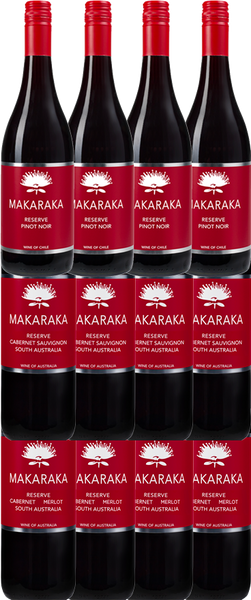 12 Bottles of Makaraka Aussie & Chilean Reds