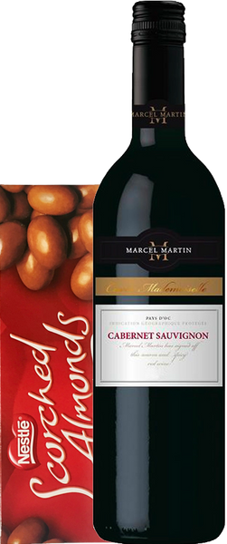 Marcel Martin Cabernet Sauvignon 2017 Gift Box with Scorched Almonds